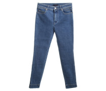 Second Hand  5-Pocket-Jeans in Blau