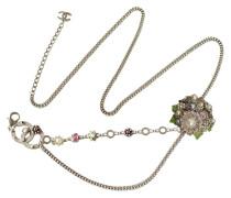 Second Hand  Gürtel / Kette mit Blumen und Perlen
