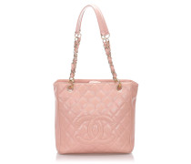 Second Hand Shopping Tote Petit aus Leder in Rosa / Pink
