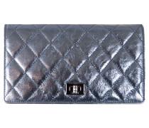 Second Hand Täschchen/Portemonnaie aus Leder in Silbern