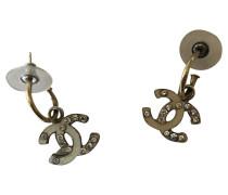 Second Hand  Ohrring aus Stahl in Beige