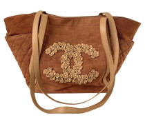 Second Hand Tote Bag aus Baumwolle in Nude
