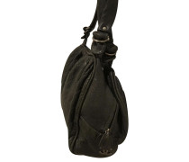 Second Hand  Shopper aus Leder in Schwarz