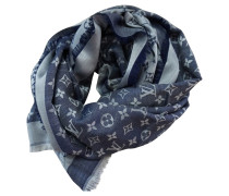 Second Hand  Monogram-Denim-Tuch in Blau