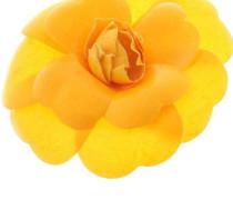 Second Hand  Kamelien-Brosche in Gelb
