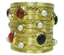 Second Hand  Vintage CHANEL COUTURE Armreif - GRIPOIX Glassteine & Perlen
