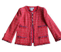 Second Hand  Tweed-Jacke in Rot