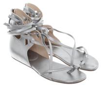 Second Hand  Silberfarbene Sandalen