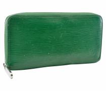 Second Hand  Täschchen/Portemonnaie aus Leder in Grün