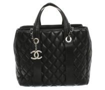 Second Hand Handtasche aus Leder in Schwarz