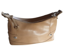 Second Hand  Lederhandtasche in Beige