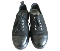 Second Hand Sneakers aus Baumwolle in Schwarz