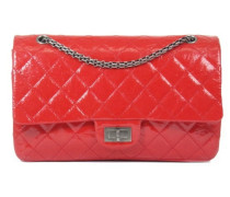Second Hand  Classic Flap Bag aus Lackleder in Rot