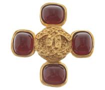 Second Hand  Goldfarbene Logo-Brosche