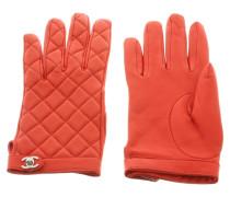 Second Hand  Handschuhe aus Leder in Rot