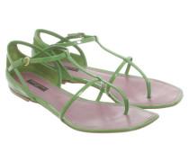 Second Hand  Sandalen aus Leder in Grün