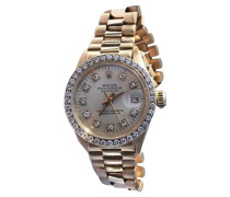 Second Hand  Armbanduhr mit Diamanten