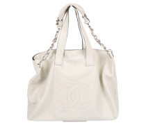 Second Hand  Tote Bag aus Leder in Creme