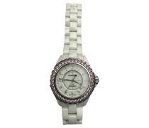 Second Hand  Armbanduhr aus Stahl in Weiß