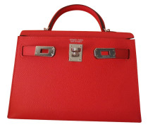 Second Hand  Kelly Bag in Rouge Tomate