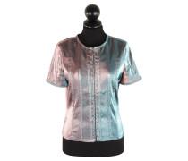 Second Hand  Kurzarm-Jacke in Blau/Pink
