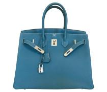 """Second Hand  """"Birkin Bag 35 Togo Leder Blue Jean"""""""