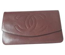 0fbb98210b31d Second Hand Täschchen Portemonnaie aus Leder in Braun. Chanel