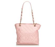 Second Hand  Tote Bag aus Leder in Rosa / Pink