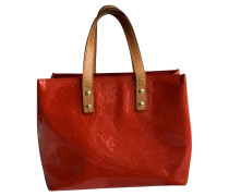 Second Hand  Tote Bag aus Lackleder in Rot