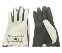 Second Hand  Handschuhe in Schwarz/Weiß