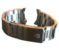 Second Hand  Armbanduhr aus Stahl in Grau