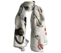 Second Hand Schal Baumwolle Weiß