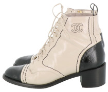 Second Hand Lackleder Geschnürt boots