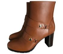 Second Hand Leder Mit gurten boots