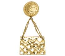 Second Hand Brosche Metall Gold