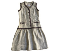 Second Hand Kleid Viskose Grau