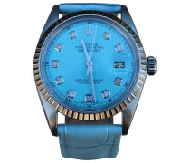 Second Hand Uhr Oyster Perpetual Medium Stahl Blau