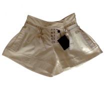 Second Hand Shorts Baumwolle Ecru