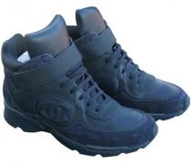Second Hand Sneakers Leder Blau