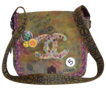 Second Hand Graffiti Leinen Handtaschen