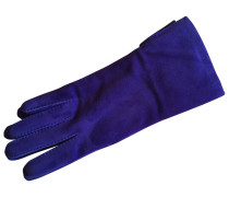 Second Hand Handschuhe Veloursleder Blau