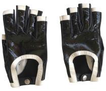Second Hand Lackleder Halbfingerhandschuhe