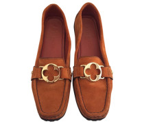 Second Hand Mokassins Velourleder Orange
