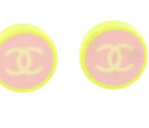 Second Hand Ohrringe Kunststoff Gelb