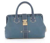 Second Hand Handtasche Leder Blau