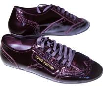 Second Hand Sneakers Lackleder Bordeauxrot