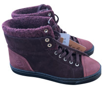 Second Hand Sneakers Veloursleder Bordeauxrot