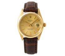 Second Hand Oysterdate 34mm Gelbgold Uhren