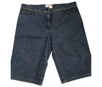 Second Hand Shorts Baumwolle Blau