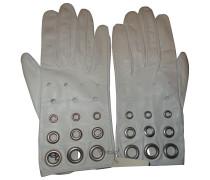 Second Hand Handschuhe Leder Weiß